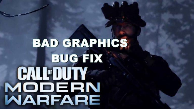 call of duty modern warfare graphics bug fix