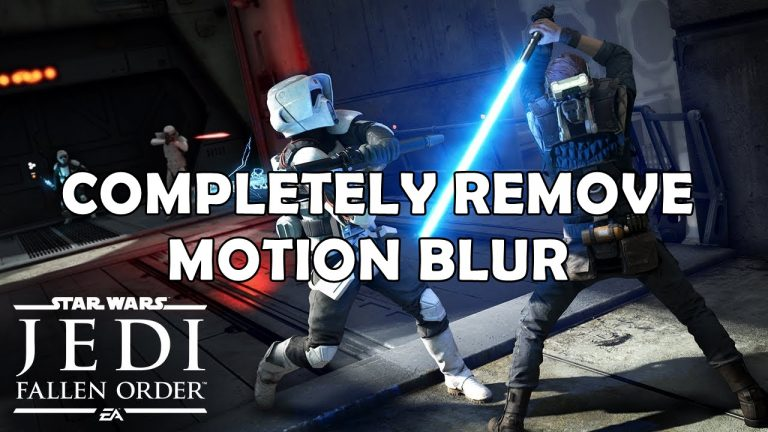 star wars jedi fallen order remove motion blur