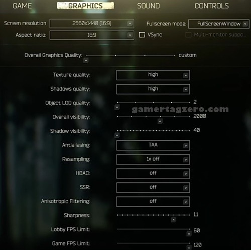 escape from tarkov eft best graphics settings