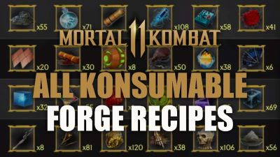 forge recipes all MK11 guide