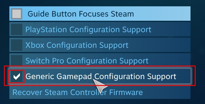 using controller on steam 3
