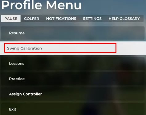 PGA TOUR 2K21 Swing Calibration guide